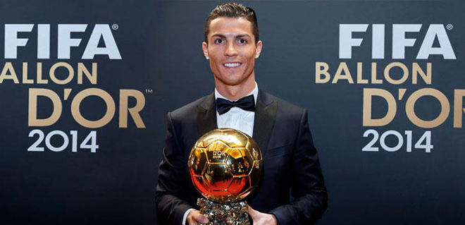 Cristiano Ronaldo ott van az Aranylabda három várományosa között
