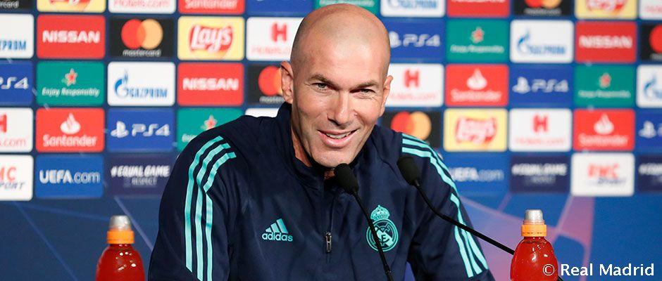 """Zidane: """"Készen állunk a kezdésre a Bajnokok Ligájában"""""""