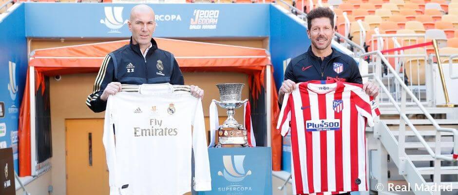 Zidane és Simeone a Spanyol Szuperkupa trófeával