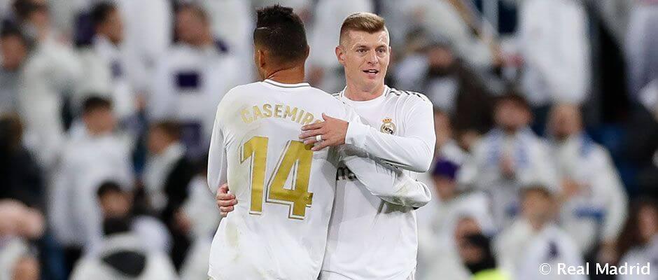 A Real Madrid kezdőcsapata a Valencia ellen