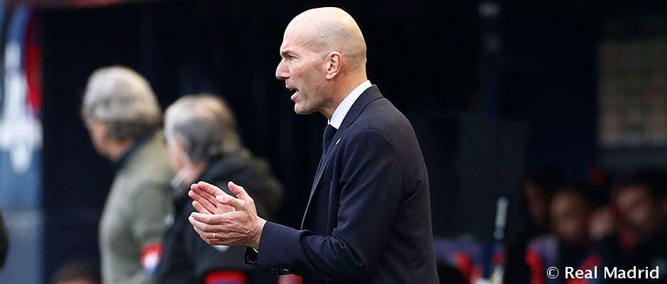 """Zidane: """"Három nagyon fontos pontot szereztünk ma"""""""
