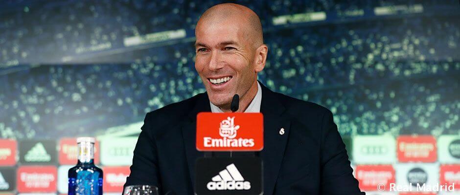 """Zidane: """"Büszke vagyok a játékosaimra, mert nem egyszerű így nyerni"""""""