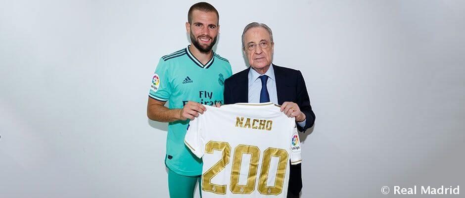 Nacho: 200 mérkőzés a Real Madridban