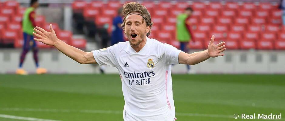 Modric góllal ünnepelte 350. mérkőzését a csapatban