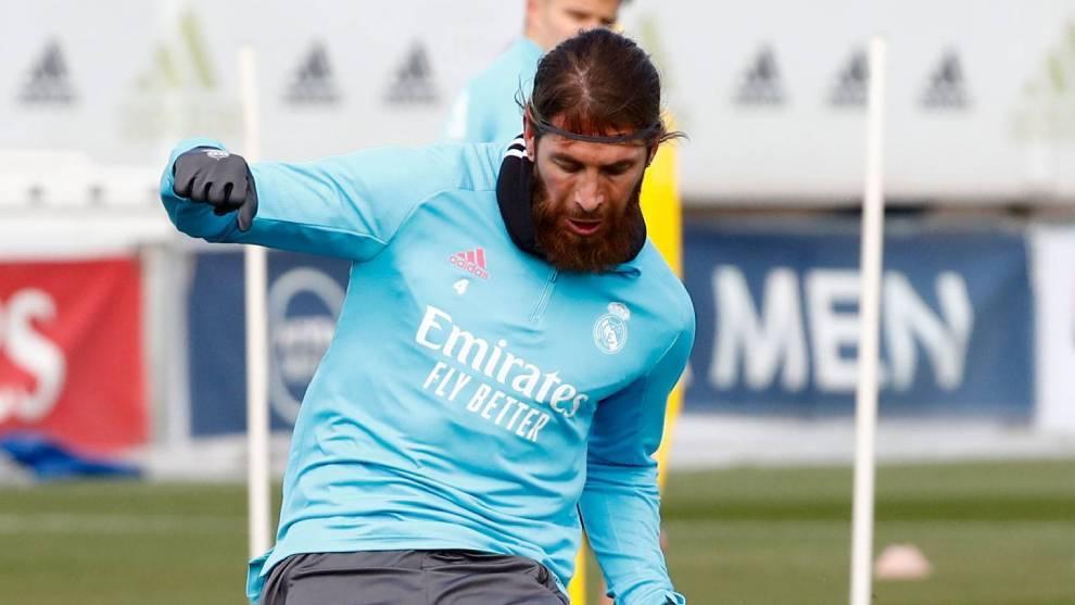 Ramos már a többiekkel edzett