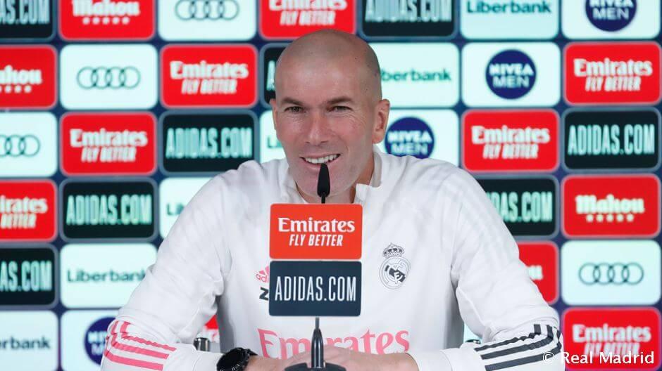 """Zidane: """"Örülünk neki, hogy újra játszhatunk néhány nap pihenés után"""""""