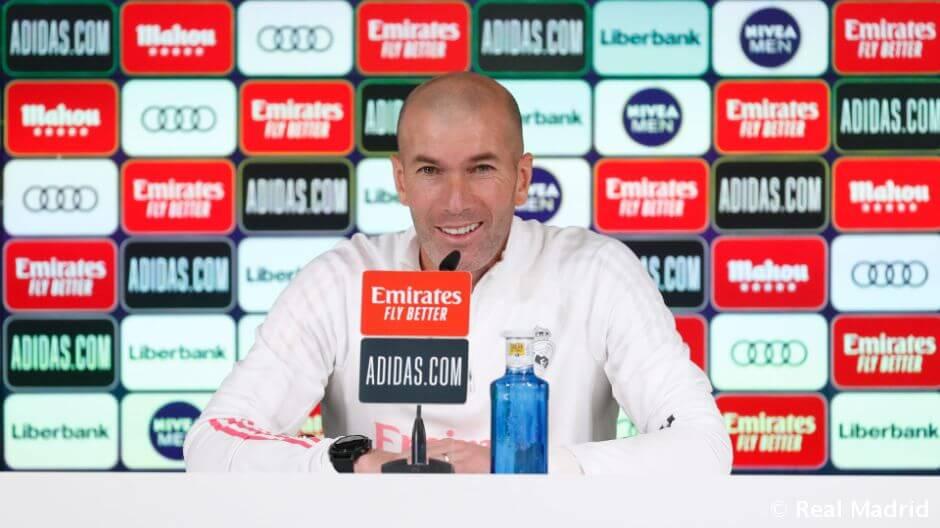 """Zidane: """"Szerencsésnek tartom magam, hogy a Real Madrid edzője lehetek"""""""