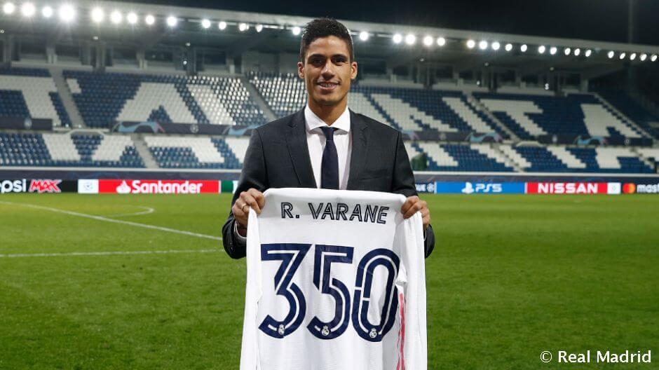 Raphael Varane jubilált az Atalanta elleni meccsen