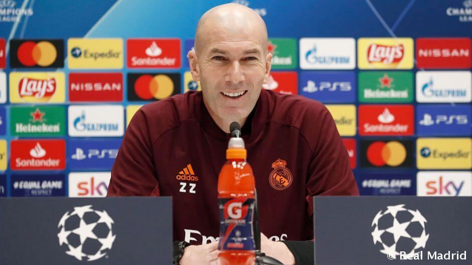 """Zidane: """"A Real Madrid mindig a győzelemért lép pályára"""""""