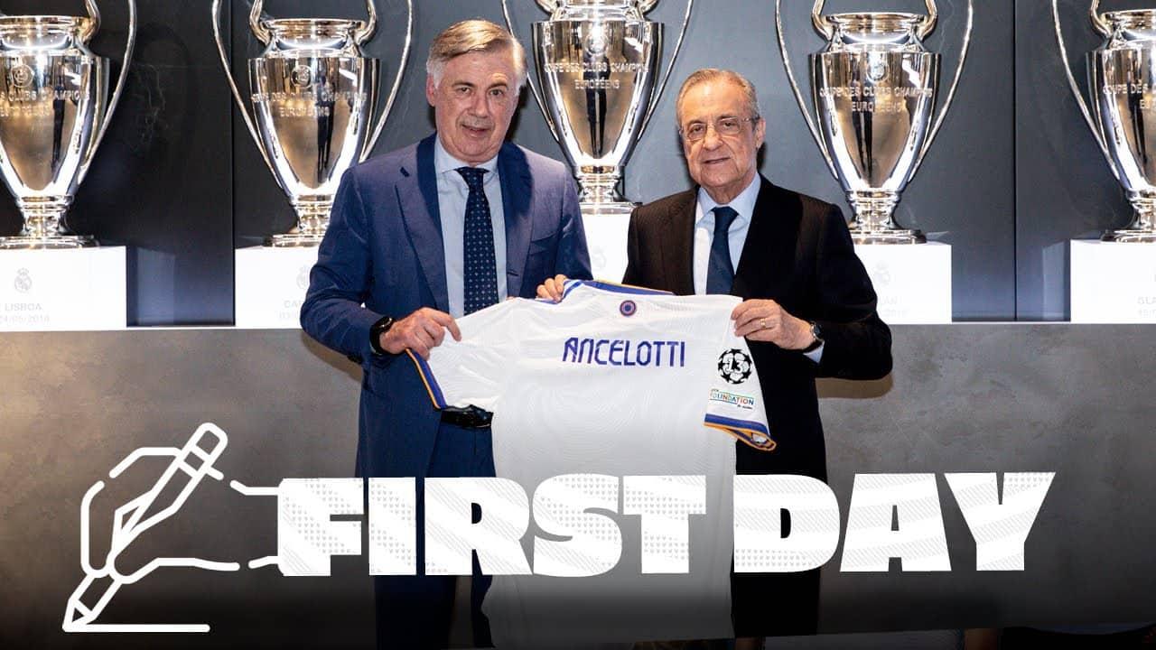 VIDEÓ: Carlo Ancelotti első napja a Real Madridnál