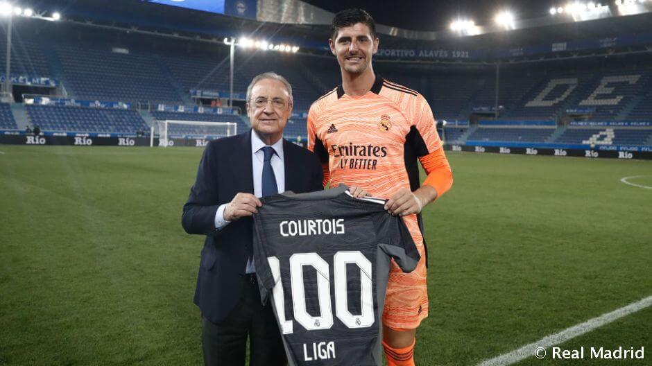 Courtois: 100 bajnoki meccs a Real Madridban